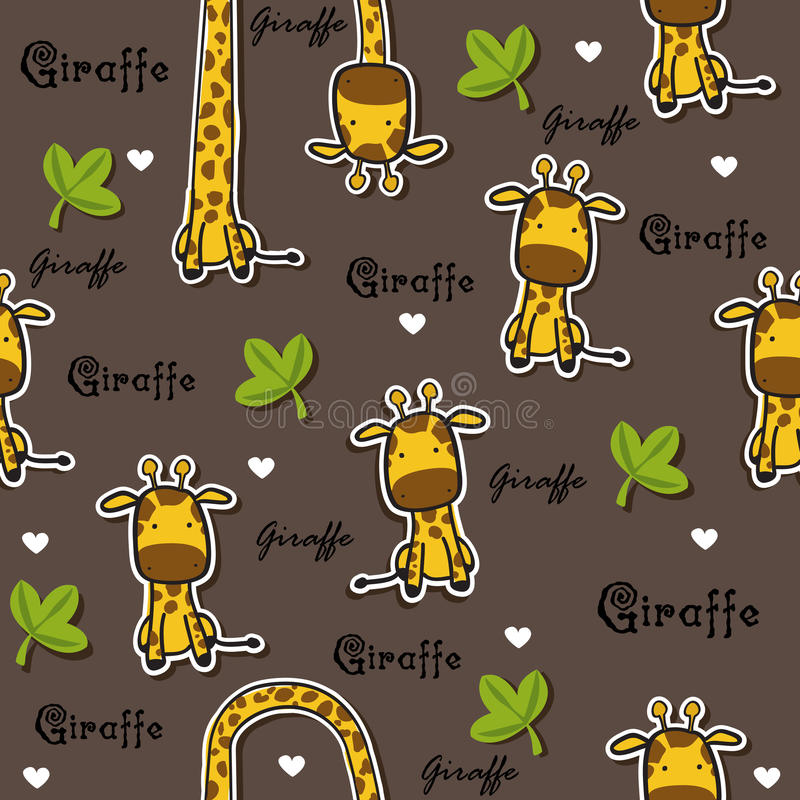 Giraffe σχέδιο ελεύθερη απεικόνιση δικαιώματος