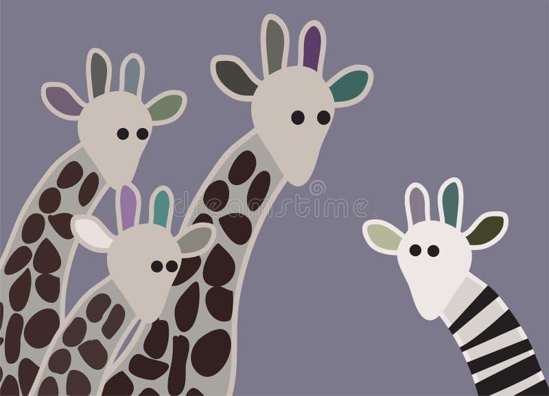 giraffe нечетный иллюстрация штока