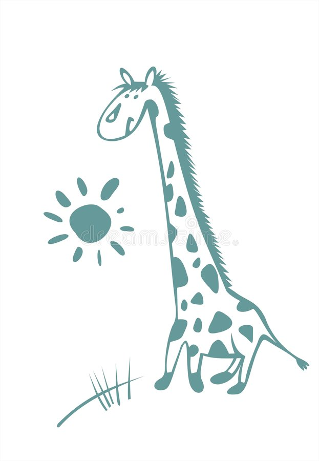 Download Giraffe stock vector. Image of imagination, touching, graphics - 2751842