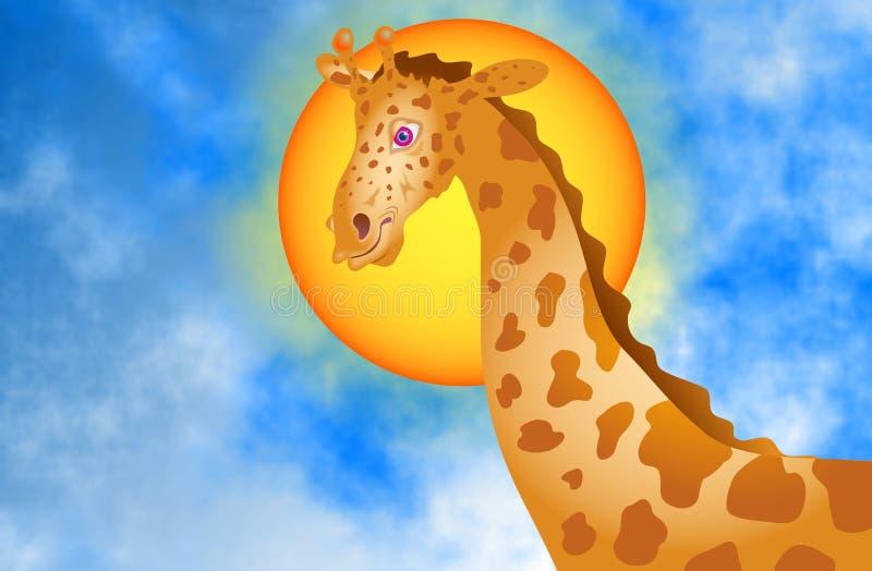 Download Giraffe illustration stock. Illustration du ciel, nature - 51979