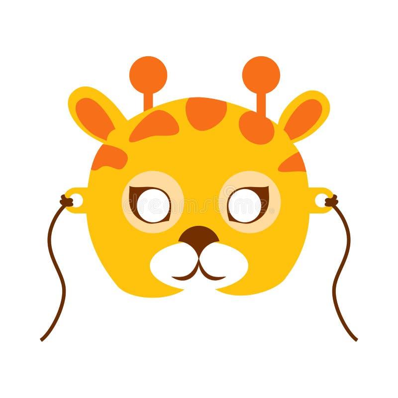 Giraffe Animal Carnival Mask. Childish Masquerade royalty free illustration