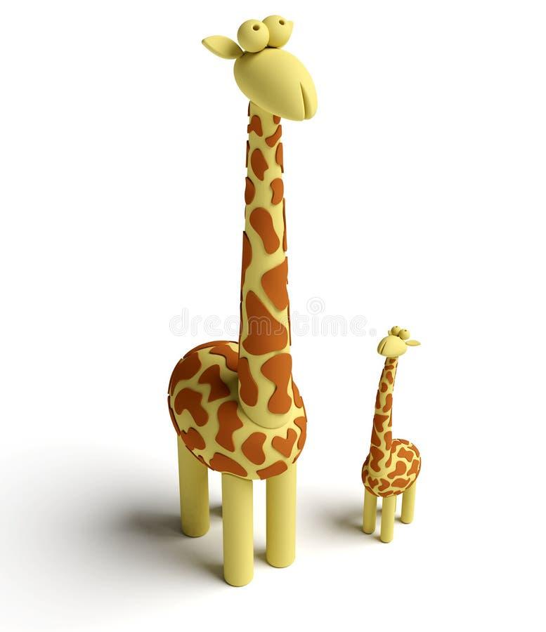 Giraffe and baby giraffe