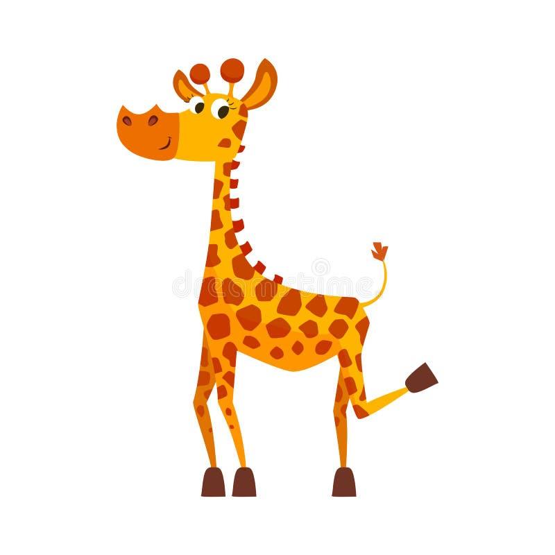 Giraffe bonito dos desenhos animados ilustração do vetor