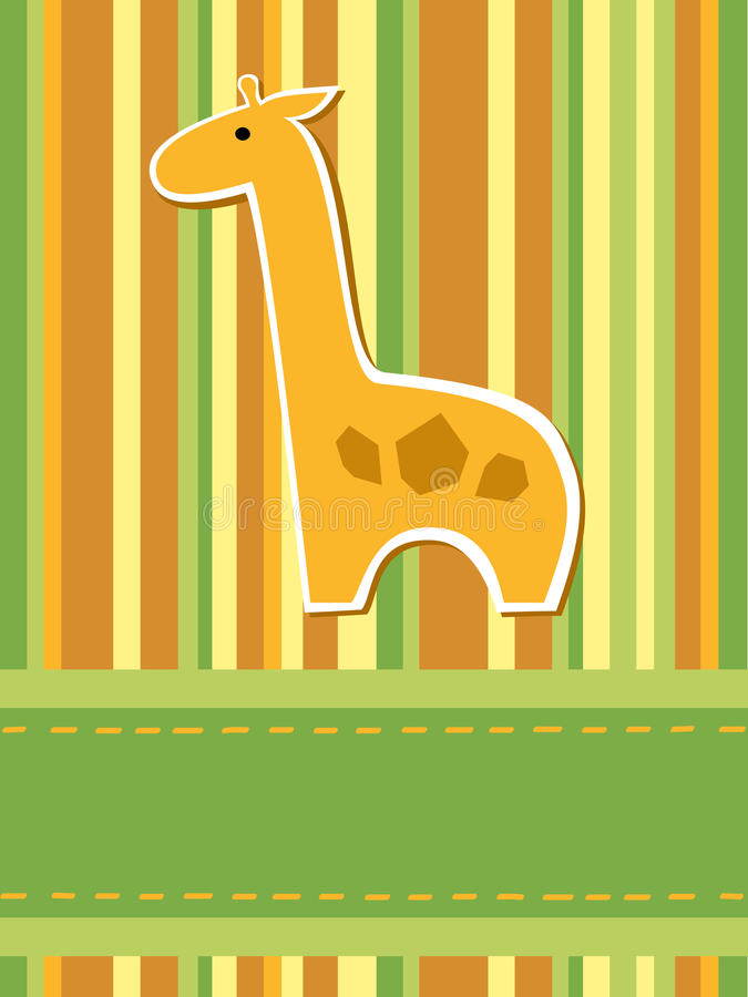 Giraffe Card Stock Photography