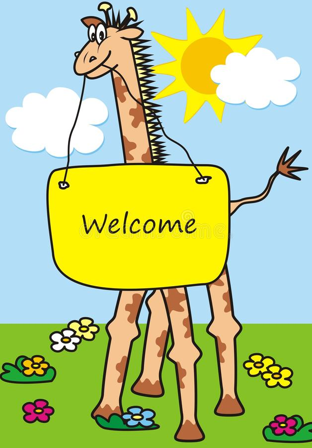 Download Giraffe and banner stock illustration. Image of childrens - 32063769