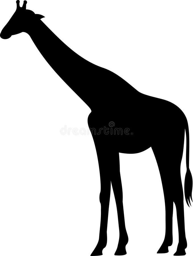 giraffe vector stock vector illustration of black shape 50486365 rh dreamstime com giraffe vector silhouette giraffe vector art