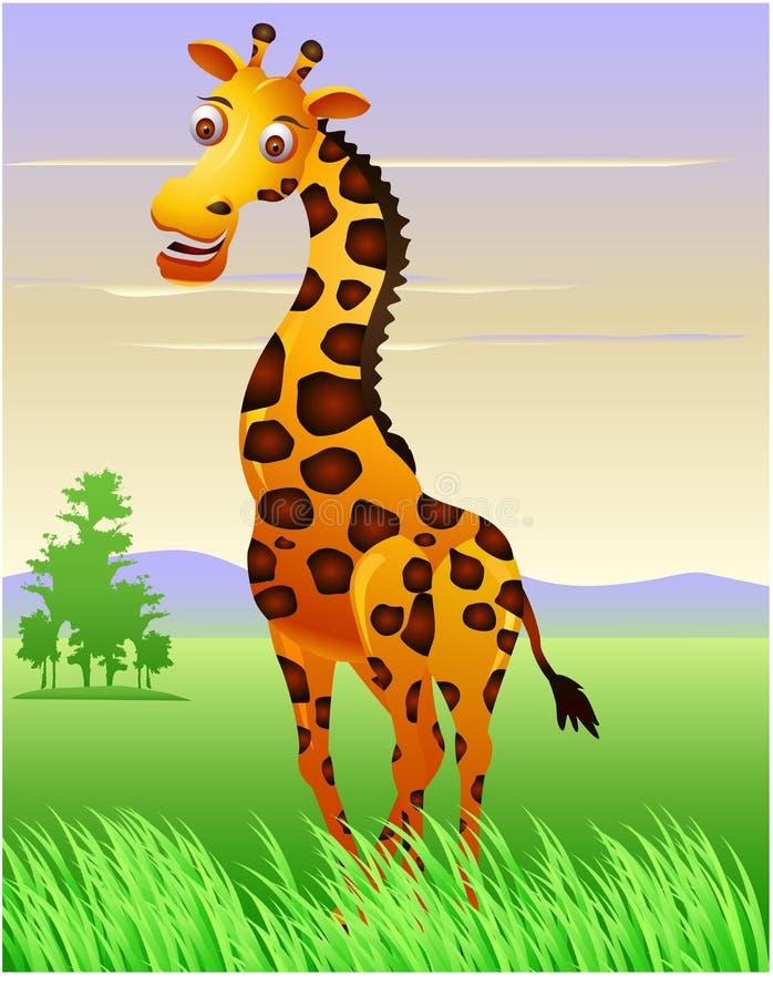 Giraffe dans la jungle illustration libre de droits