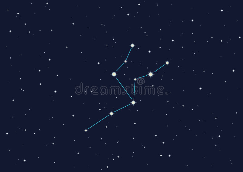 Giraffe de constellation illustration libre de droits