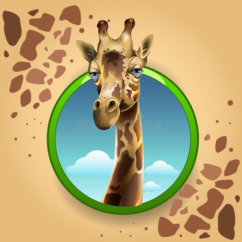Giraffe de dessin animé illustration de vecteur
