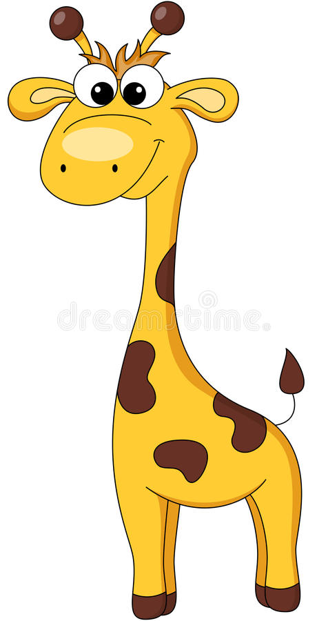Giraffe de dessin animé illustration libre de droits
