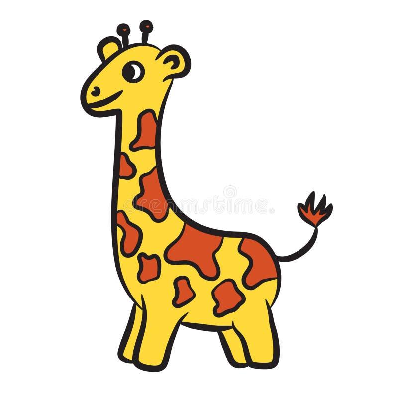 Giraffe de dessin animé Livre de coloration illustration stock
