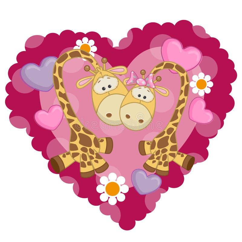 Giraffe deux illustration libre de droits