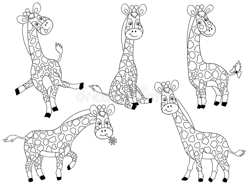 Giraffe di vettore messe royalty illustrazione gratis
