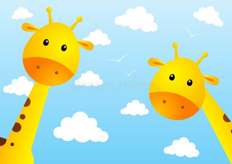 Giraffe divertenti illustrazione vettoriale