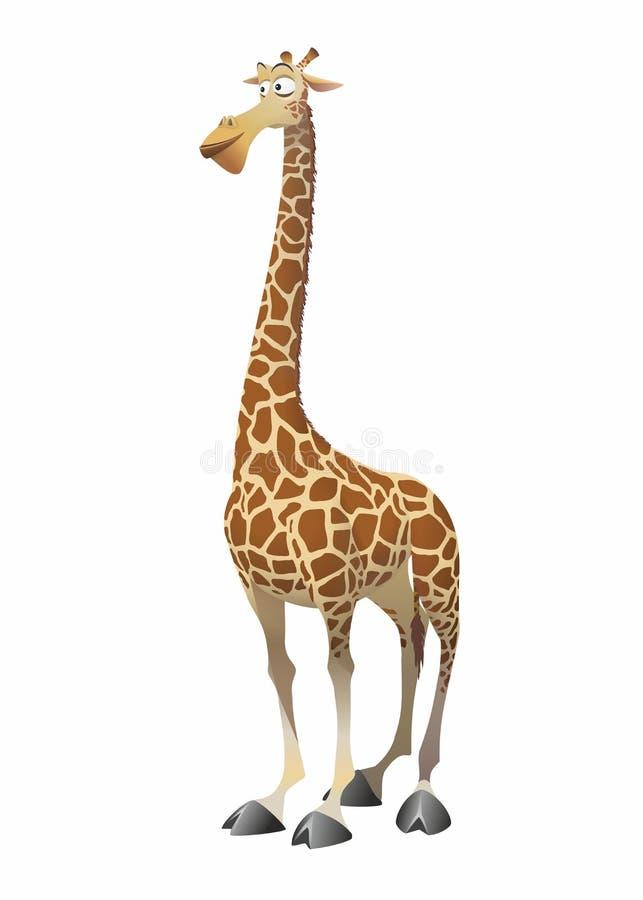 Giraffe do divertimento do vetor ilustração royalty free