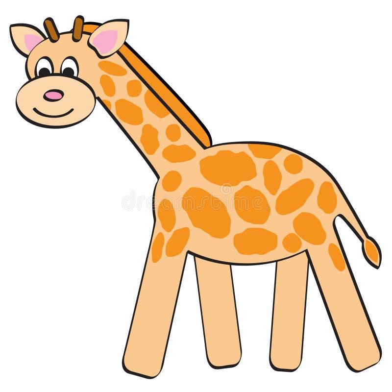 Giraffe dos desenhos animados ilustração stock