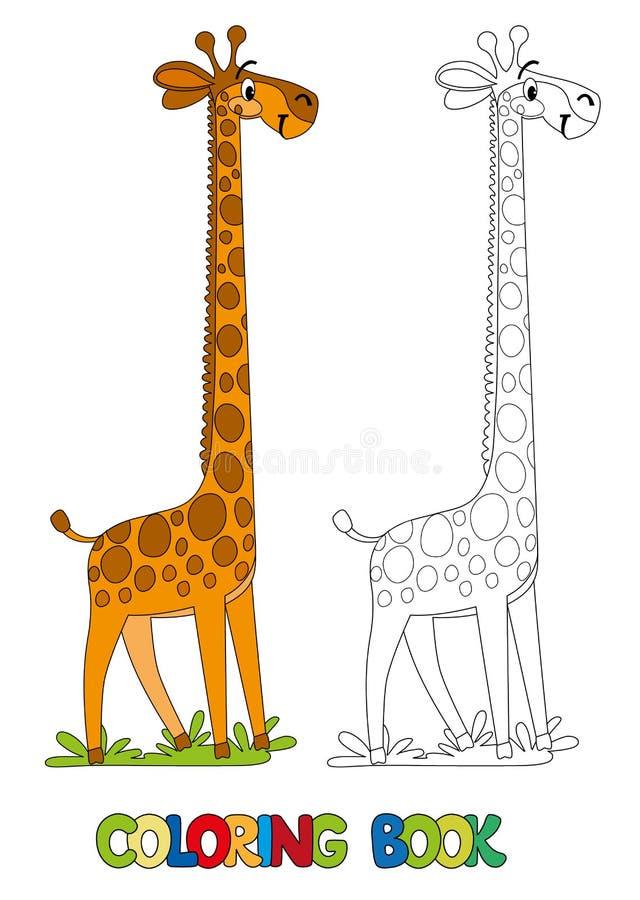 Giraffe drôle Livre de coloration illustration de vecteur