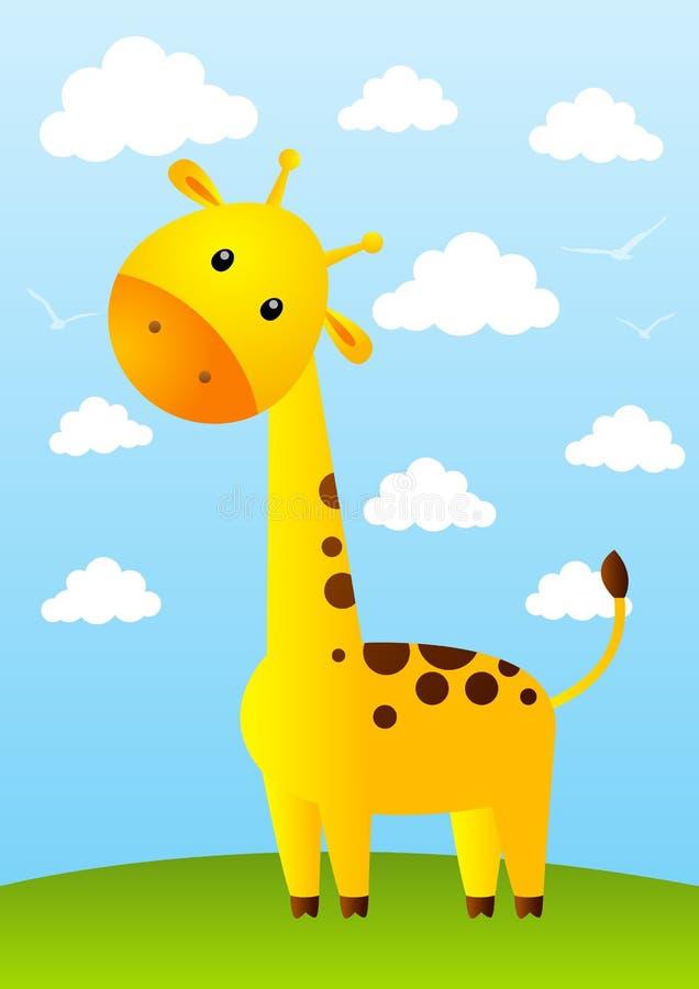 Giraffe drôle illustration libre de droits