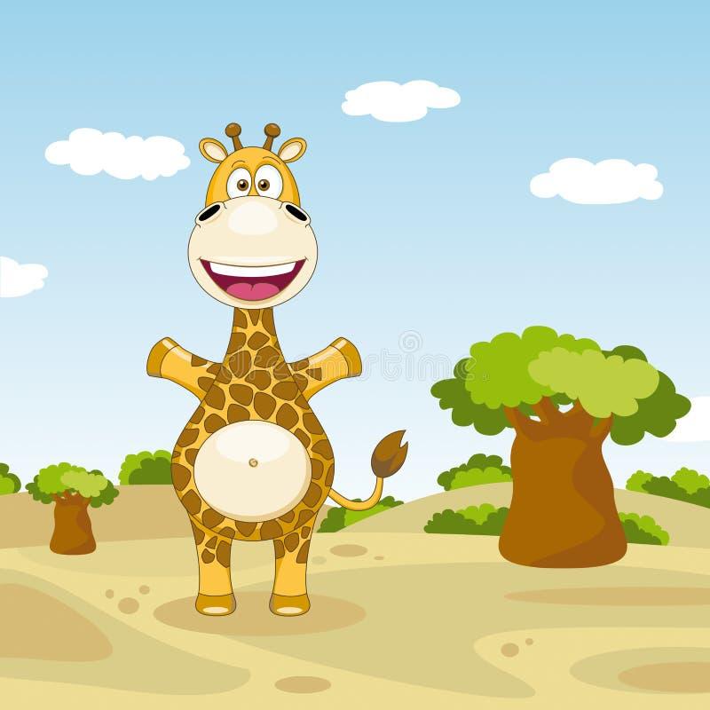 Giraffe drôle illustration de vecteur