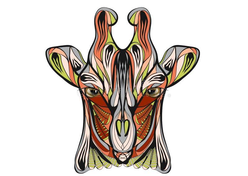 Giraffe ethnique illustration libre de droits