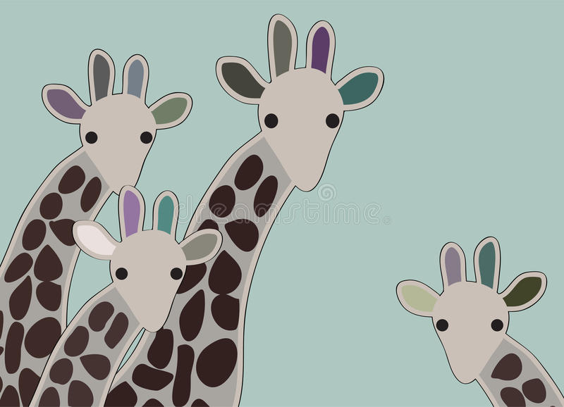 Download Giraffe family stock vector. Illustration of wild, africa - 17917029