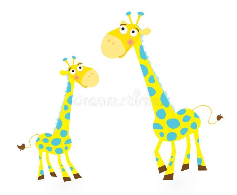 Giraffe family vector illustration