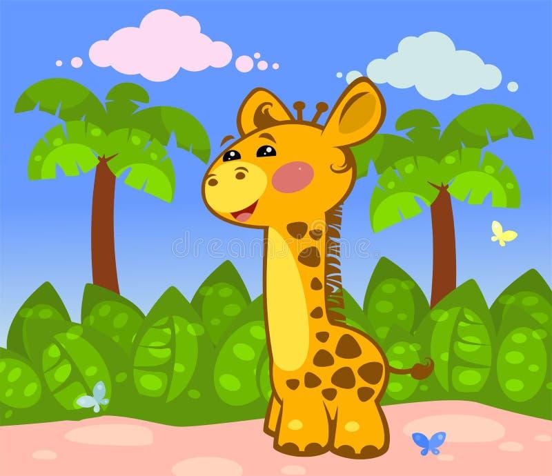Giraffe heureuse illustration stock