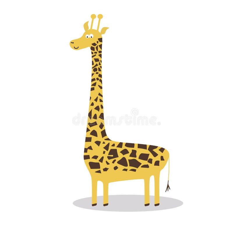Giraffe heureuse de dessin animé illustration libre de droits