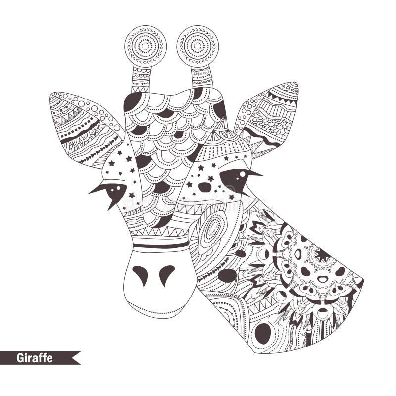 giraffe Libro di coloritura illustrazione di stock