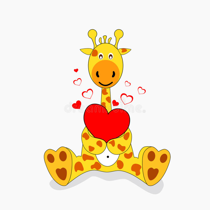 Giraffes In Love Giraffe in love stock ...
