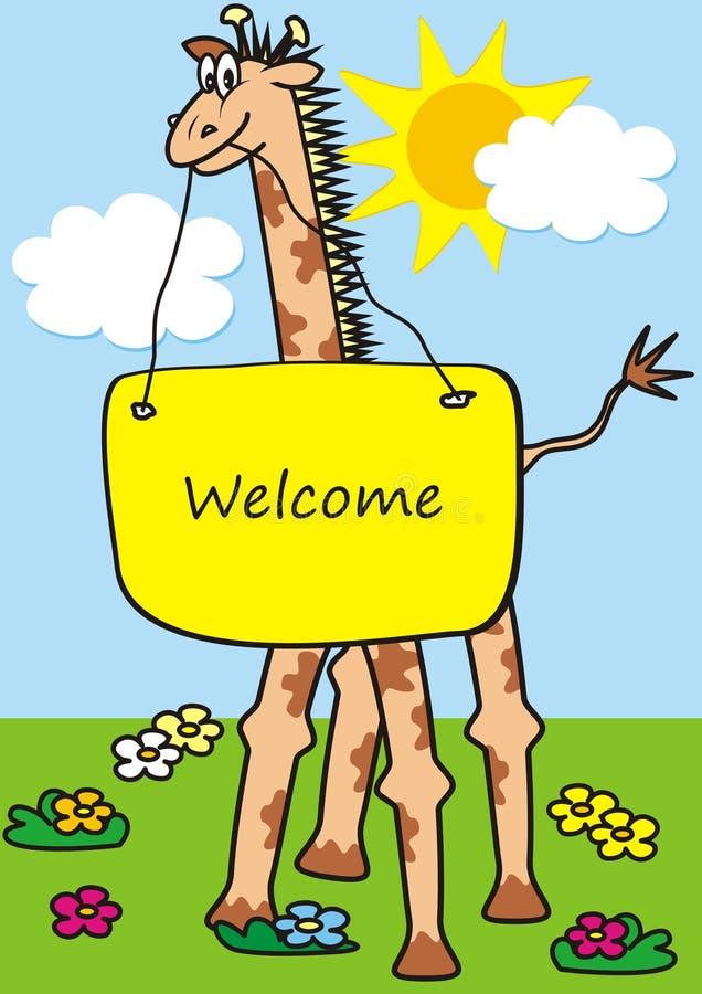 Giraffe, lustige Ikone des Vektors stock abbildung