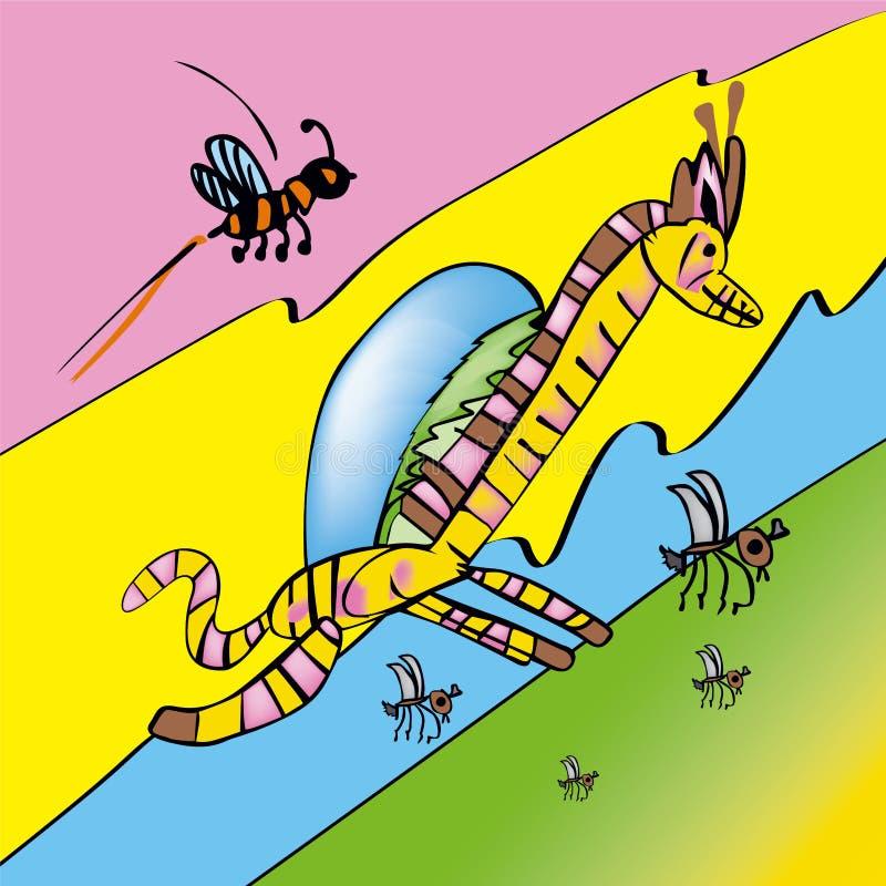 Giraffe magique illustration libre de droits
