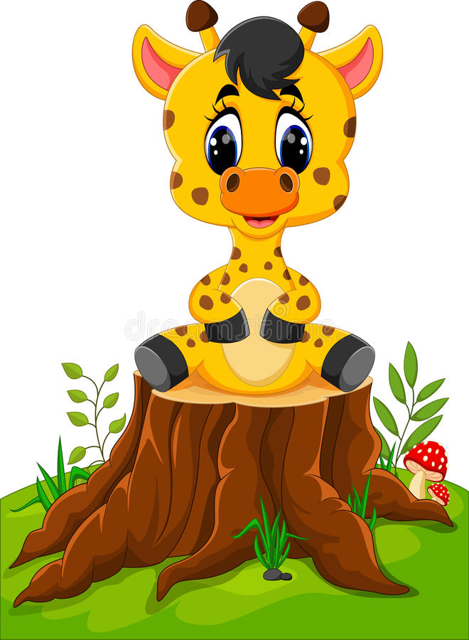 Giraffe mignonne de chéri illustration libre de droits