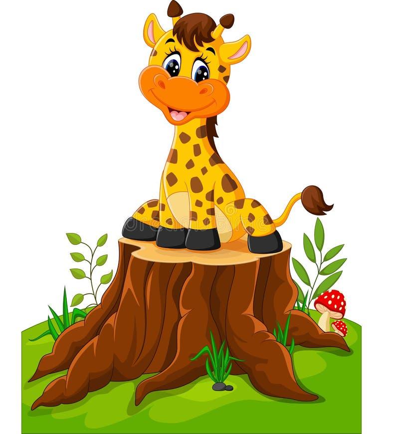 Giraffe mignonne de chéri illustration de vecteur