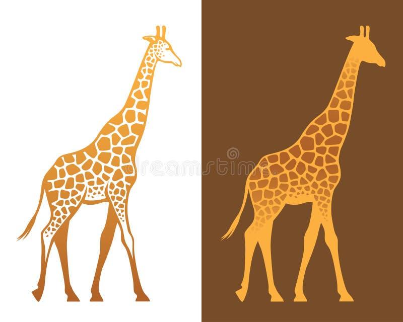 Giraffe mit Stellenillustration lizenzfreie abbildung