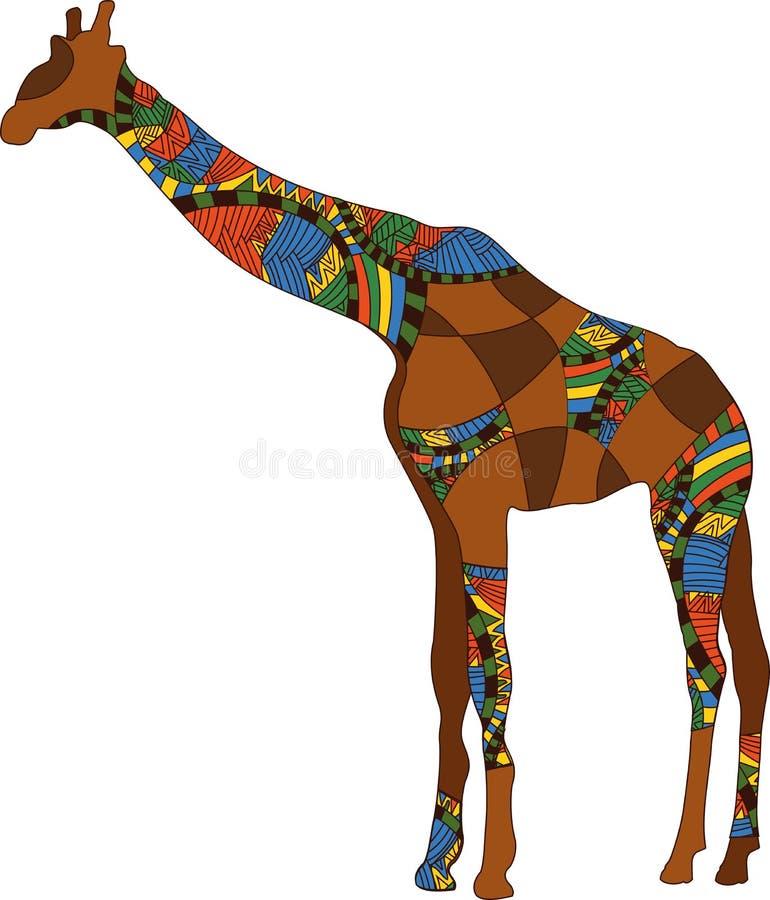 Giraffe modelado ilustração royalty free