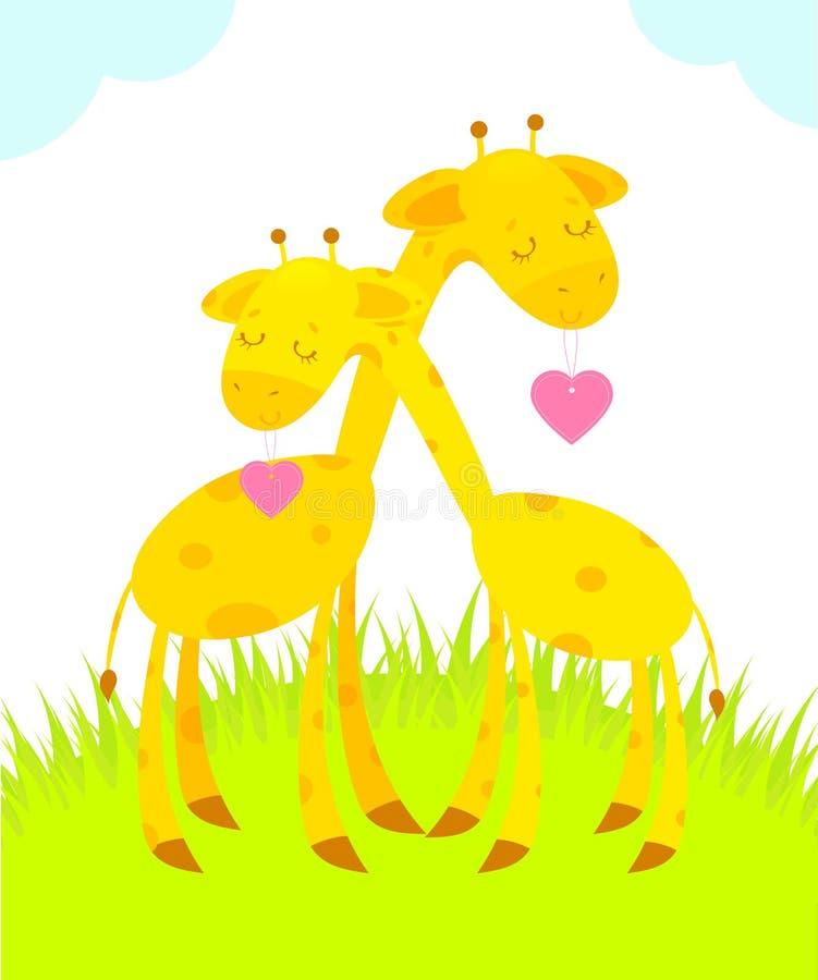 Giraffe nell'amore royalty illustrazione gratis