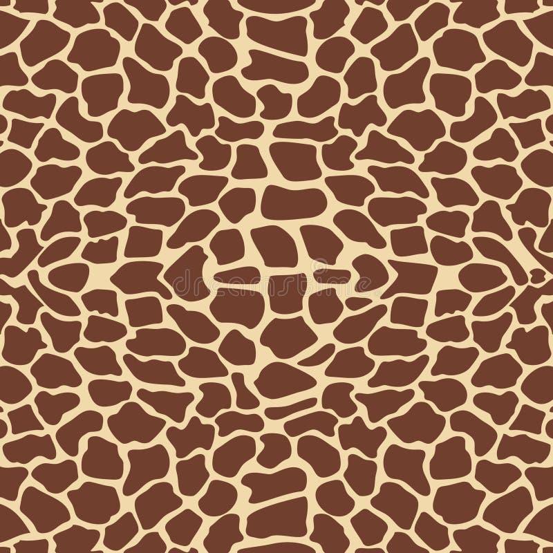 Giraffe pattern royalty free illustration