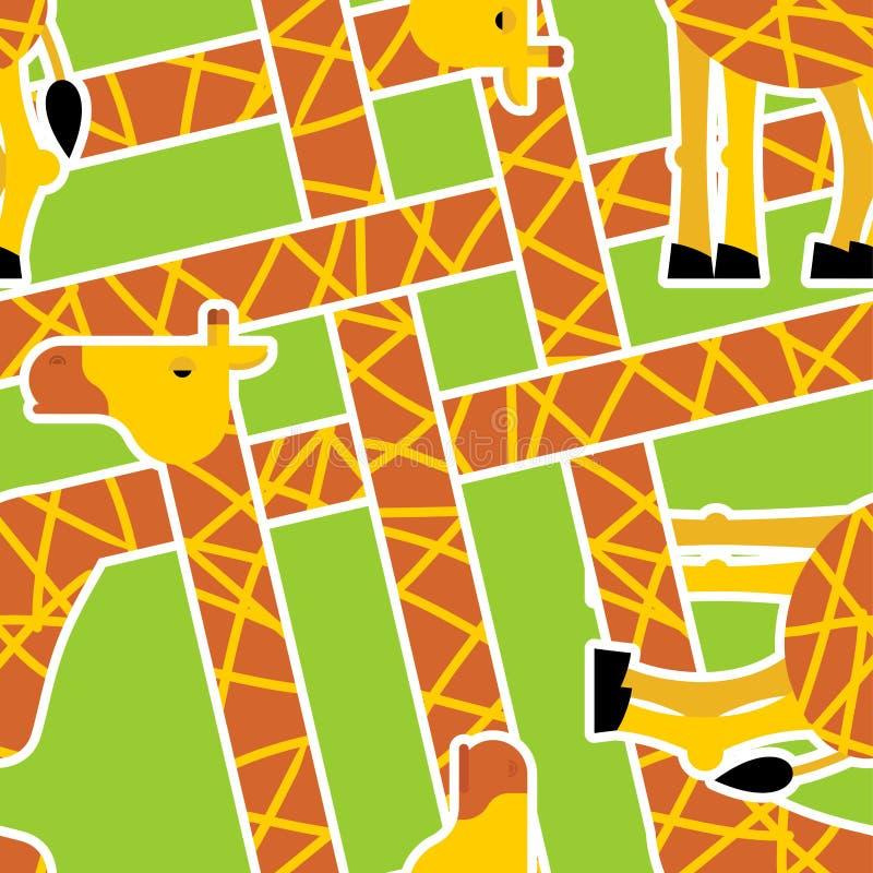 Giraffe pattern. Animal background. Texture for childrens cloth. Vector illustration stock illustration