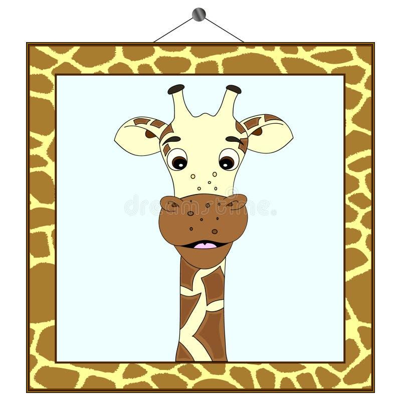 Free Giraffe Portrait In Giraffe Frame Royalty Free Stock Photos - 20859628
