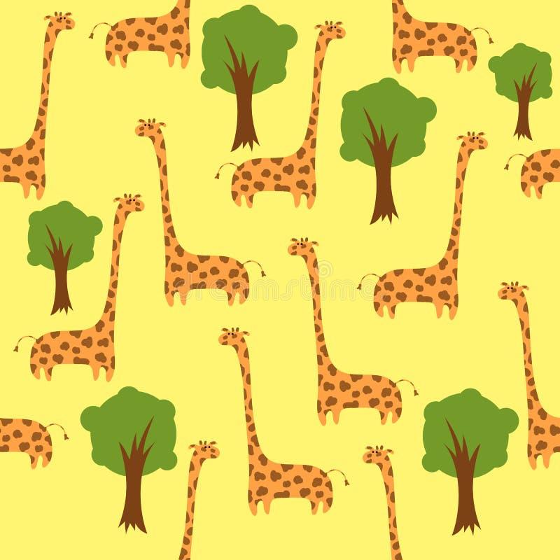 Giraffe senza giunte royalty illustrazione gratis