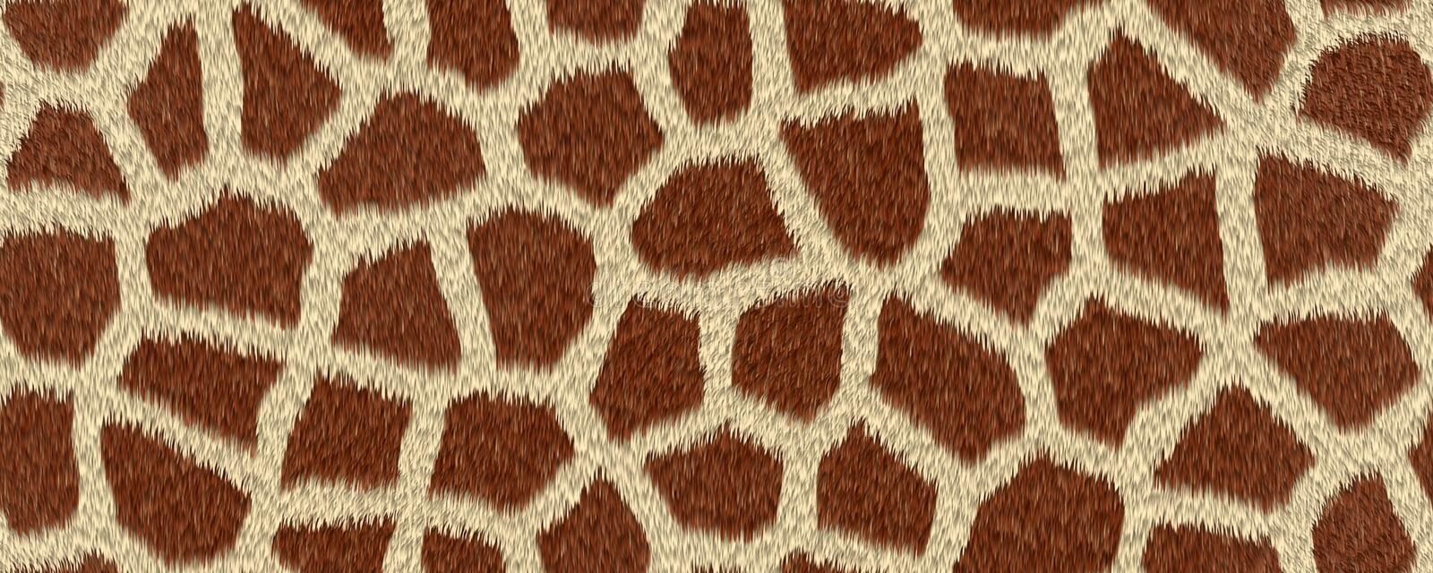 Giraffe skin monochrome pattern. Animal fur background. vector illustration