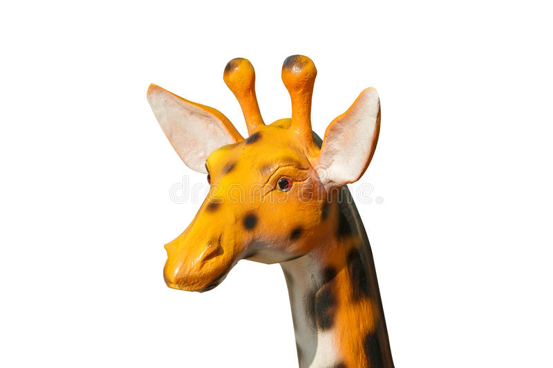 Giraffe statue on isolated stock image