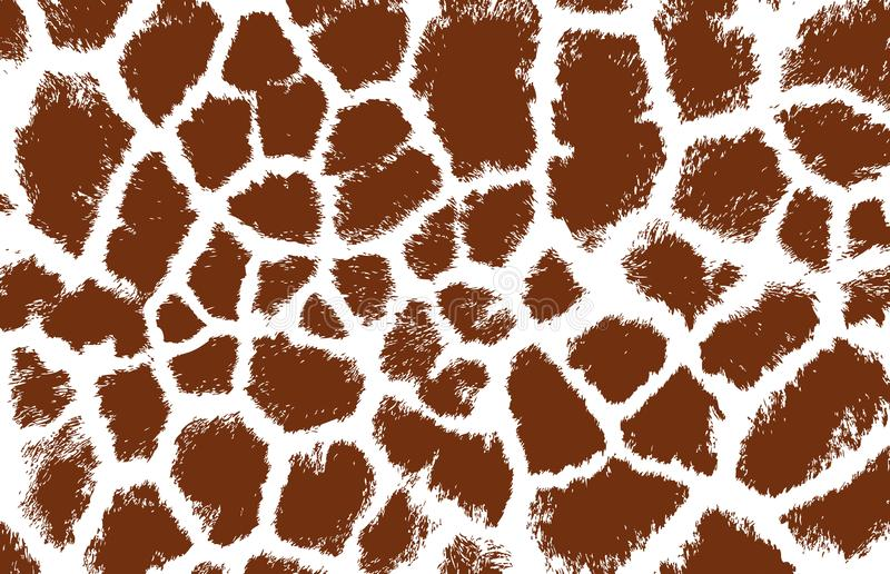 Giraffe texture pattern brown white llustration background print. Giraffe texture pattern brown white llustration background realistic safari spot skin print royalty free illustration