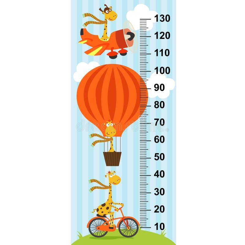 Giraffe on transport height measure- vector illustration, eps. Giraffe on transport height measurein original proportions 1:4 - vector illustration, eps royalty free illustration