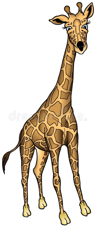Giraffe von Afrika stock abbildung