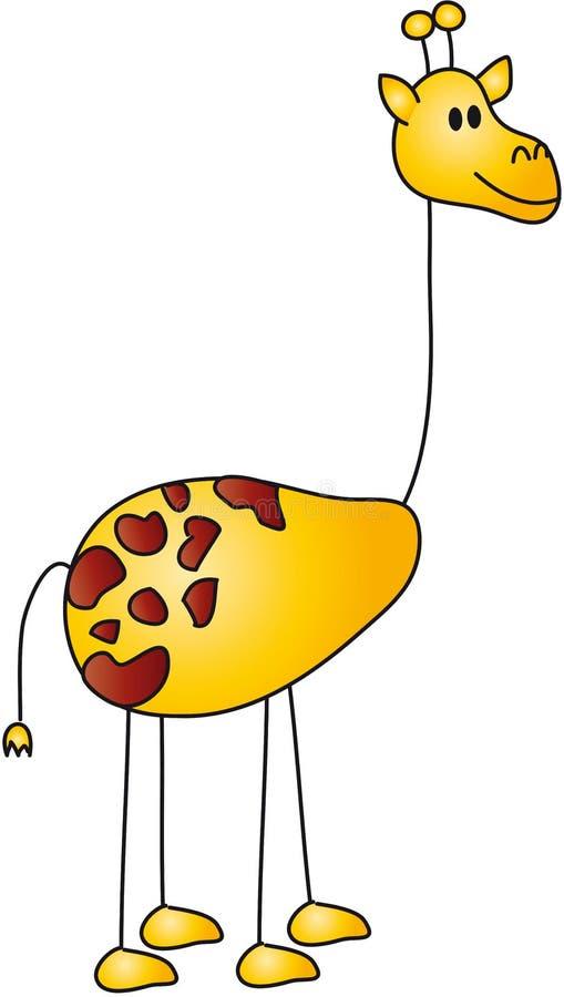 Giraffekarikatur stock abbildung