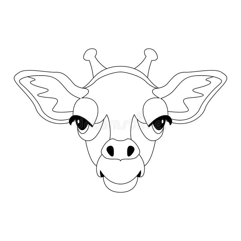 Giraffengesichtsillustration Federzeichnung lizenzfreie abbildung
