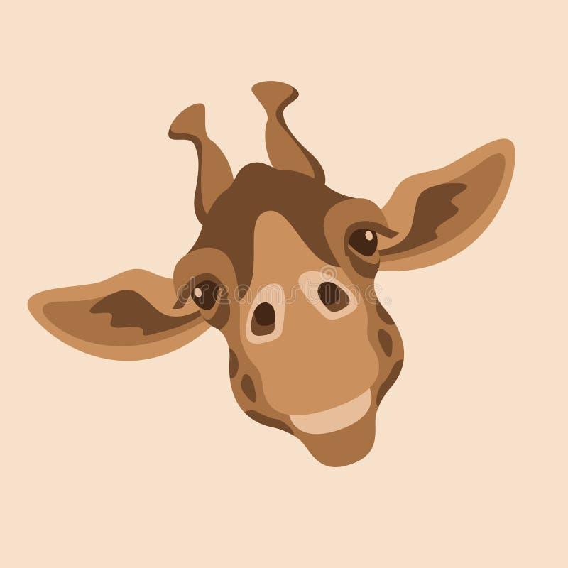 Giraffengesichtskopfvektor-Illustrationsart vektor abbildung