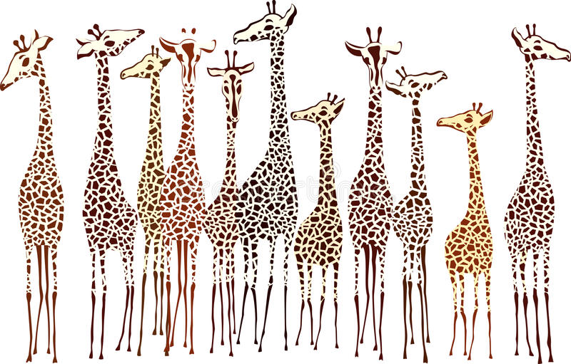 giraffes бесплатная иллюстрация